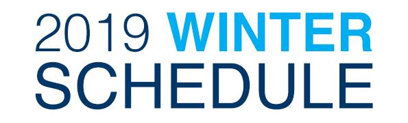 Winter Class Schedule